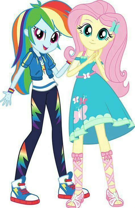 rainbow dash  fluttershy equestria girls   pony characters equestria girls