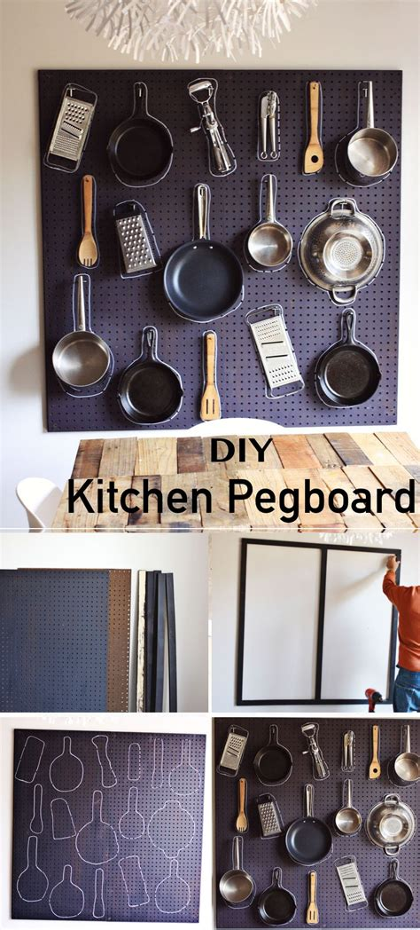 pegboard kitchen organizer 15 innovative diy kitchen organization storage ideas 1445