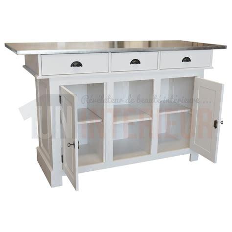 comptoir ilot cuisine comptoir type îlot de cuisine en 180cm pin zinc