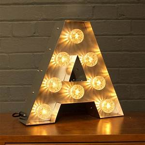 light up marquee bulb letters a to z by goodwin goodwin With lighted letter a