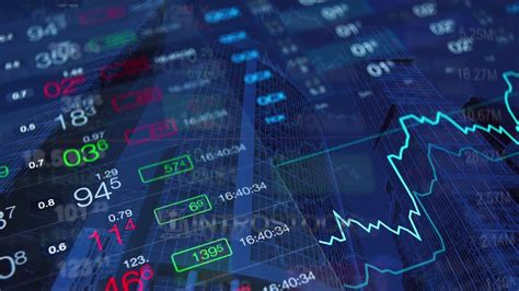 stock market video background  financial news stock