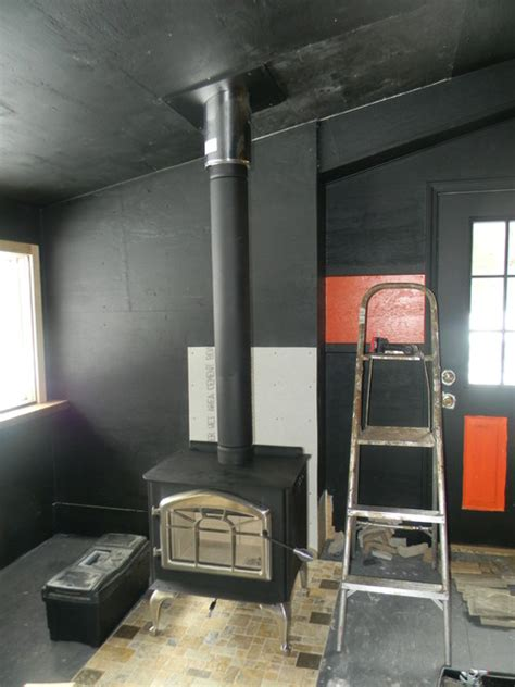 black stove pipechimney pipe  wood stove traditional
