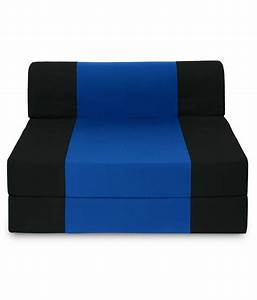 dolphin zeal single seater sofa bed black royal blue With 6ft sofa bed