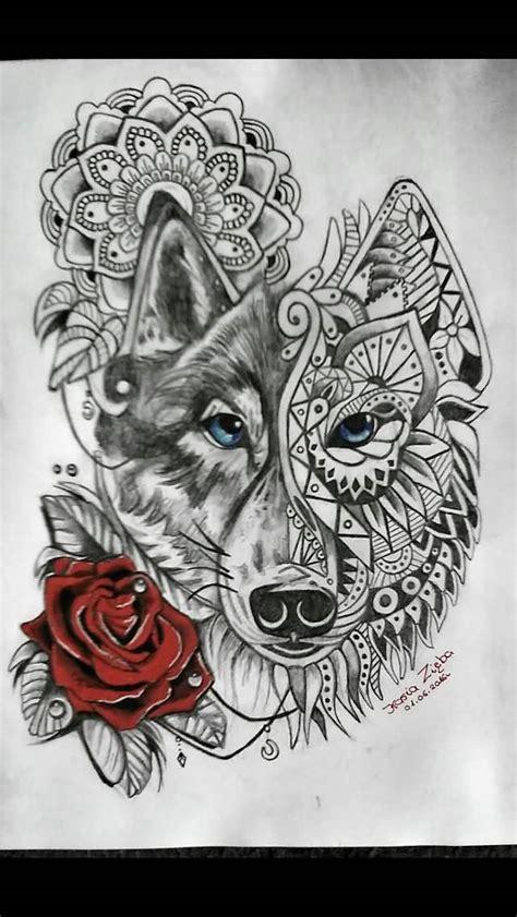 mandala wolf tattoos designs collection