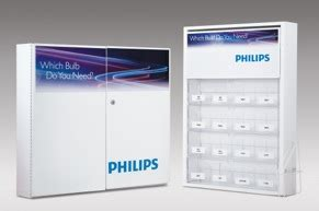 philips introduces two new automotive bulb cabinets for shops