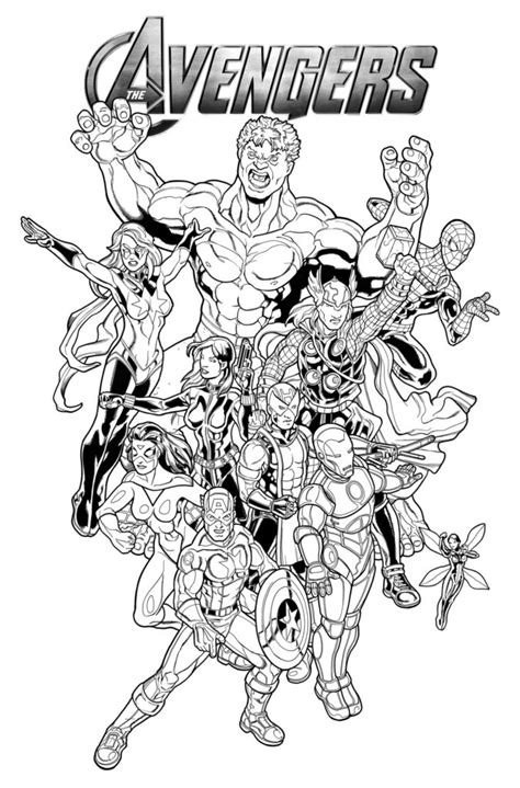 coloring pages avengers coloring pages  book