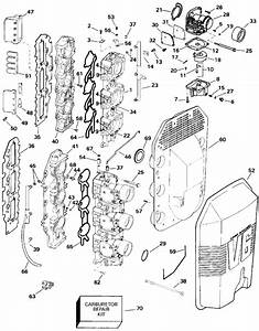Johnson Carburetor And Intake Manifold Parts For 1993