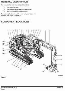 Original Illustrated Factory Workshop Service Manual For Doosan Crawler Excavator Type Dx140lc