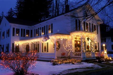 christmas in the berkshires b inn stockbridge berkshires massachusetts lights decorate the beautiful four