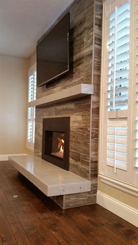 floating hearth fireplace   living room