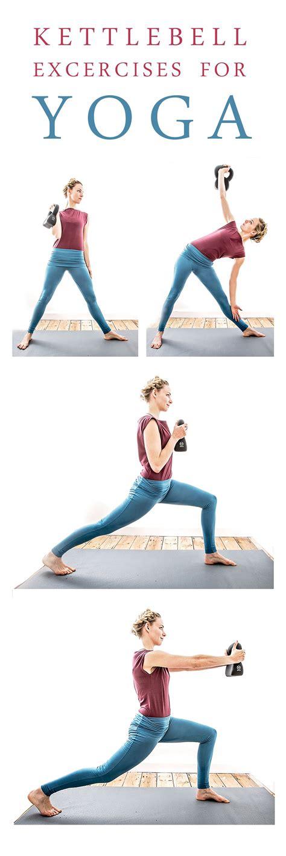 kettlebell yoga practice fitness improve strengthening training trikonasana excercises strong