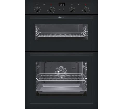 buy neff umsgb electric double oven black