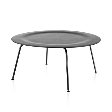 eames molded plywood coffee table metal base by charles