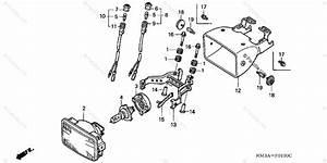 Honda Atv 2004 Oem Parts Diagram For Headlight  Trx300ex