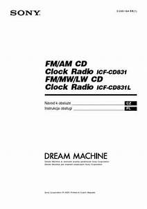 Sony Icf Cd831 Alarm Clock Download Manual For Free Now