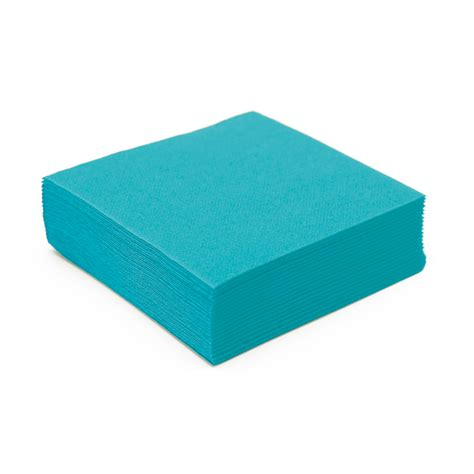 nappe et serviette en papier serviette en papier turquoise microgaufr 233 233 paisseur 25 cm nappes et serviettes