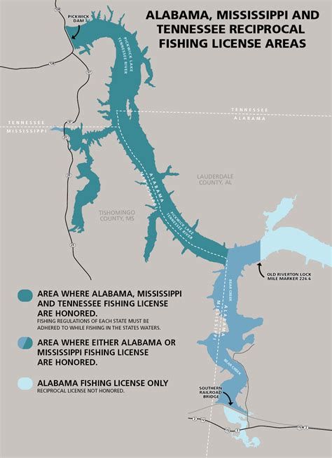 fishing license alabama non resident mississippi areas tenn reciprocal ala miss freshwater map