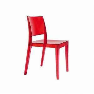 Chaise Rouge Design : chaise design en polycarbonate rouge gyza et chaise transparente design papatya ~ Teatrodelosmanantiales.com Idées de Décoration