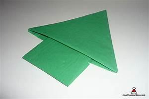 Pliage De Serviette Pour Noel Facile : pliage de serviette en forme de sapin ~ Dode.kayakingforconservation.com Idées de Décoration