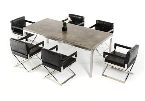 modrest retna modern concrete dining table modern dining