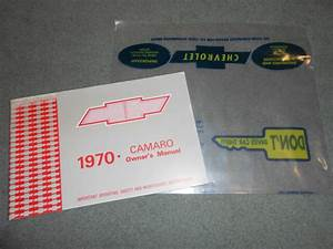 1970 Camaro Chevrolet Owner Manual    Guide    U0026 39 70 Chevy