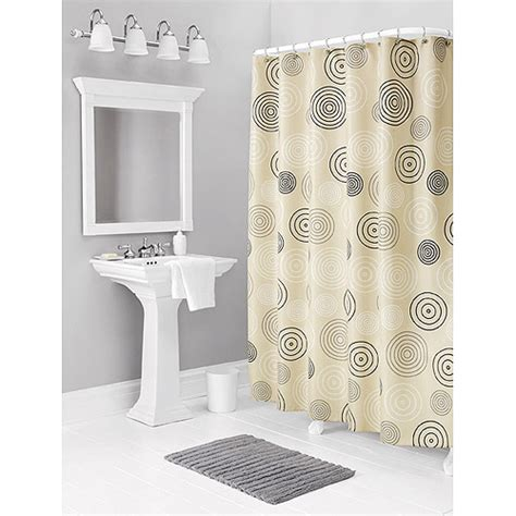retro rings fabric shower curtain bath walmart