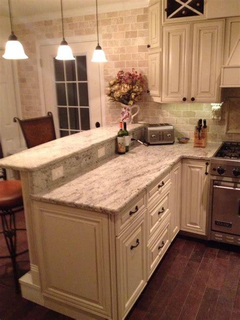 Kitchen Counter Add On by My Diy Kitchen Two Tier Peninsula Viking Range Stools
