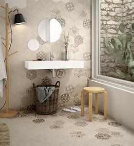 Carrelage Mural Hexagonal : carrelage hexagonal ciment vieilli montpellier cuisine et salle de bains b24 vente de ~ Carolinahurricanesstore.com Idées de Décoration