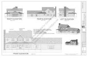 free house blueprints and plans h212 country style porch house plans blueprints construction documents page 05 sds plans