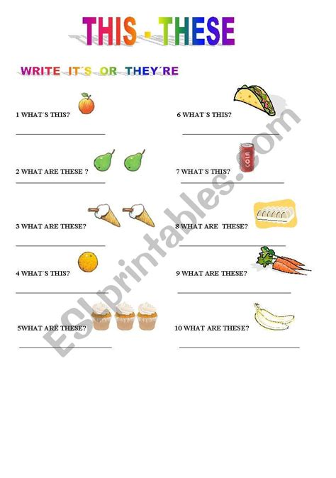 this these esl worksheet by jennybohmes