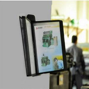 a4 pageflip page file holder wall mounted display rack With wall mounted document display