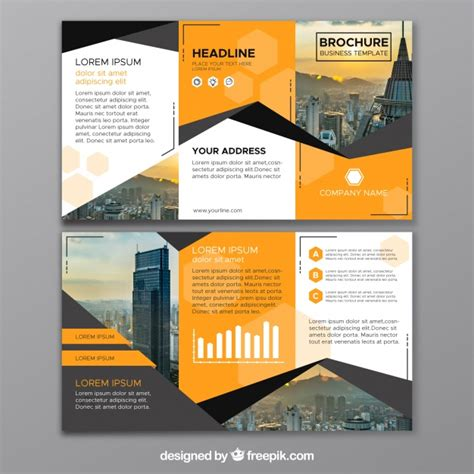 Trifold Brochure Vectors, Photos And Psd Files