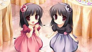 Girls black hair dress game cg long hair midori no umi ...