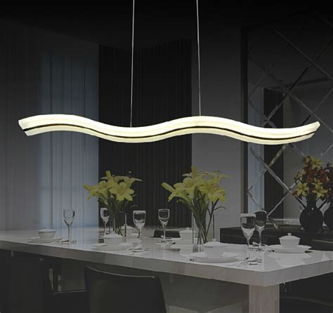 38w led pendant lights modern kitchen acrylic suspension