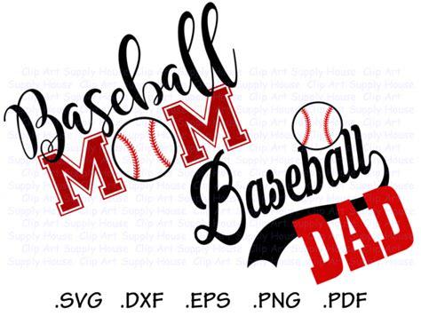 baseball mom baseball dad base ball design files   silhouette software dxf files svg