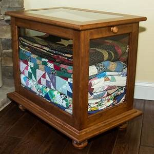 DWR Custom Woodworking Quilt Display Cabinet
