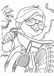 Coloriage De Turbo L U0026 39 Escargot  Dessin Son Copain Sur Une Bicyclette  U00e0 Colorier