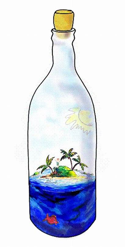 Bottle Animated Ocean Gifer Animation