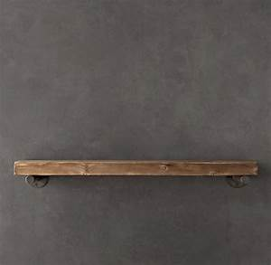 Reclaimed Wood Wall Shelf - Industrial - Display And Wall