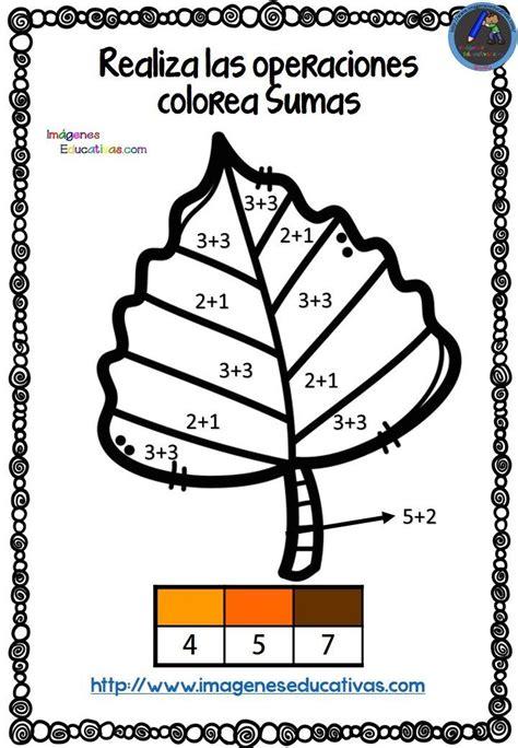Coloreamos con sumas en otoño Fichas de matematicas