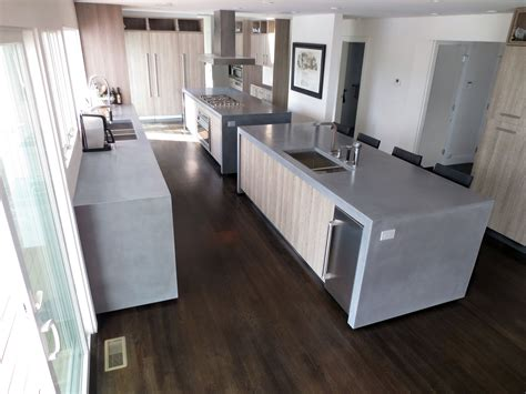 how to install kitchen island concrete island kitchen countertops with waterfall 7263