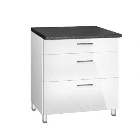 meuble cuisine 80 cm meuble de cuisine bas 80 cm 3 tiroirs tara avec pieds