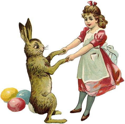 free vintage easter bunny images the graphics fairy