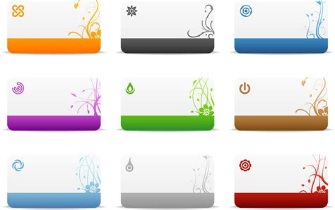 vector business card templates images  blank