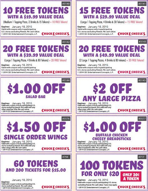 chuck  cheese printable coupons january