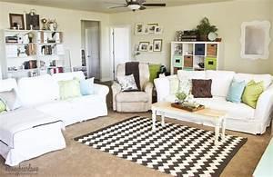 Family Room Makeover for $250 - Honeybear Lane