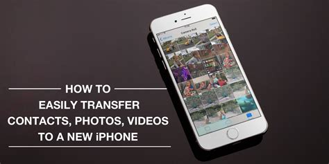 how to transfer contacts from iphone to iphone how to easily transfer contacts photos and from