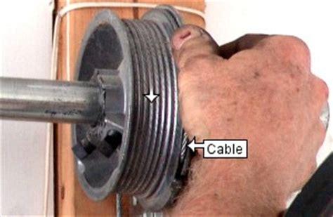 how to fix a garage door cable garage door repair diy cable do it your self