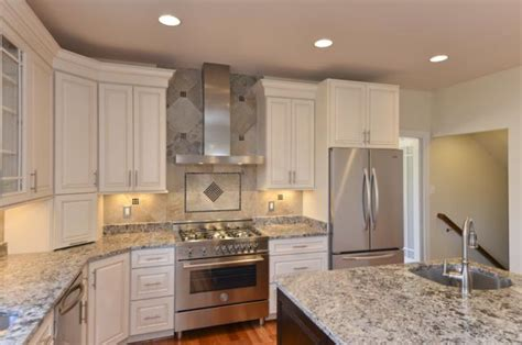 gourmet kitchen  mosaic tile