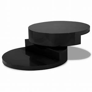 Table Basse Noire Ronde : deco in paris ~ Teatrodelosmanantiales.com Idées de Décoration